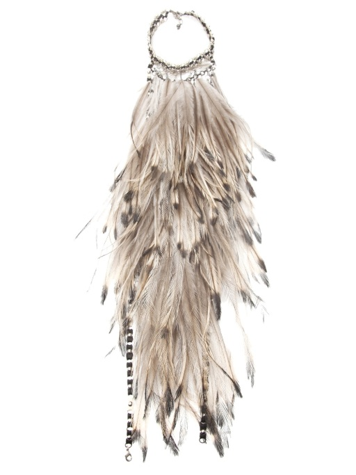 ClemmieWatson feather halter necklace