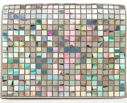 Embellished iridescent patent-leather clutch Maison Martin Margiela