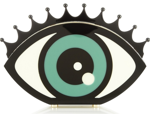 Eye Want You Perspex clutch Charlotte Olympia