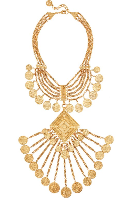 BEN-AMUN gold plated necklace
