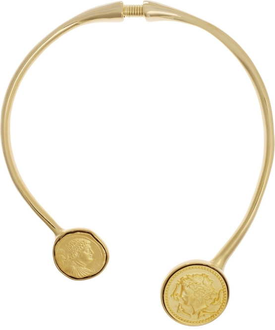 Gold-plated necklace by Kenneth Jay Lane