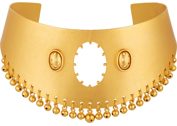 Jarama gold-plated choker by Paula Mendoza